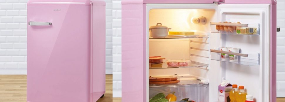 Roze lidl koelkast