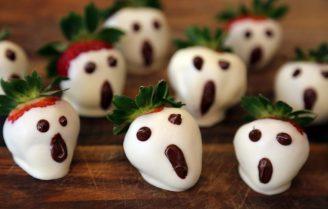 Geestig lekkere chocolade aardbeien