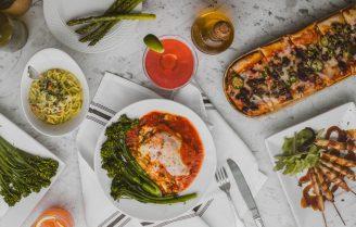 Vegetarische lasagne met geitenkaasricotta en courgette