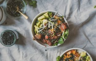Kimchi Poke Bowl