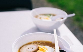 Udon noodle miso soep