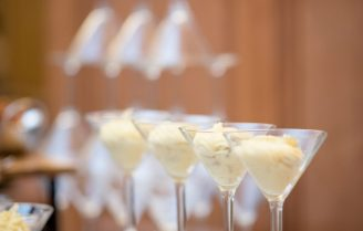Bubbly Champagnemousse dessertje