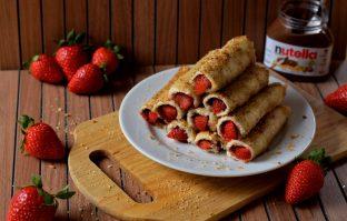 FASTFOOD: Speltpannenkoeken met aardbeien en Nutella