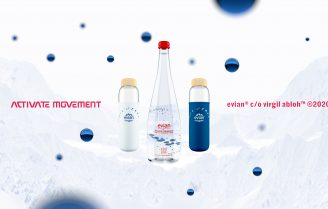 Evian en Virgil Abloh lanceren limited edition collectie.